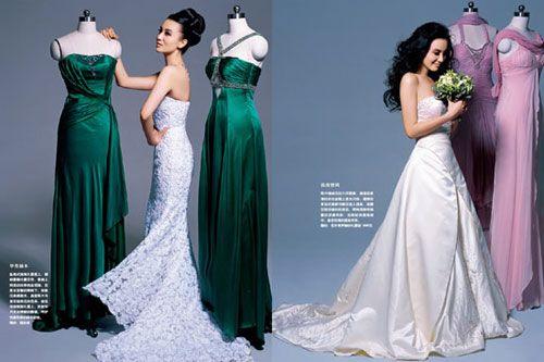 Актриса Сун Цзя демонстрирует свадебные платья 1