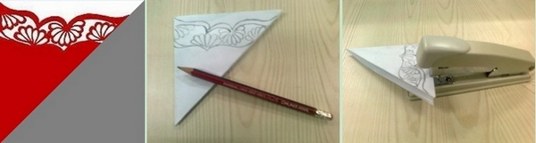 Step3 for making a Chinese Paper Cutting