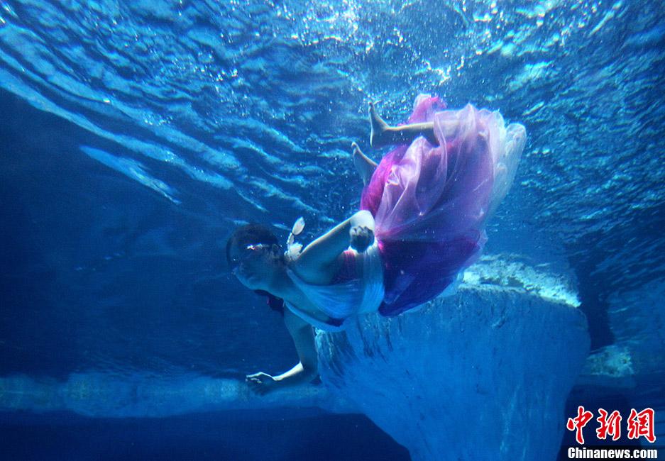 中国电信彩信信箱_爱心大使水下起舞展曼妙身姿-心-对外经贸
