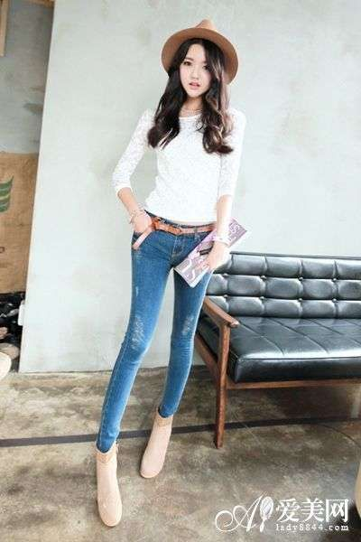 紧身裤短靴潮搭配 双管齐下最显瘦-紧身裤-东北网