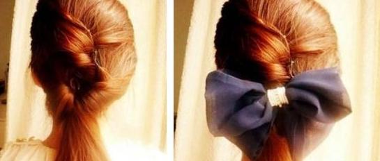 公主发型演绎少女情(图)-马尾辫