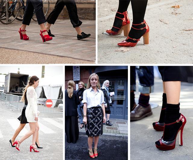 搭配 风格 红色/(红色凉鞋不由分说,优雅和性感从那若隐若现的肌肤当中散发出来...