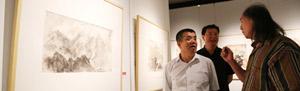 拙朴风骨:尚连璧画展在省美术馆展出