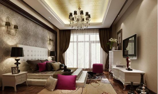 浪漫唯美欧式卧室装修