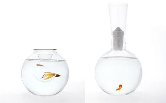 金鱼住别墅 趣味鱼缸