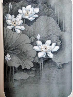 张琳带领100多名弟子完成鱼皮画黑龙江风光系列作品