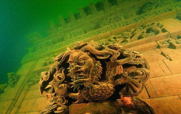 中国の狮城,水中の古城とは浙江省淳安県千岛湖の水中にある古城だ.